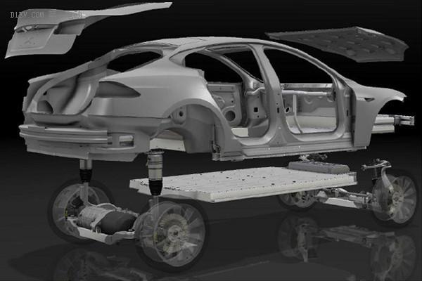 特斯拉电动汽车结构简图