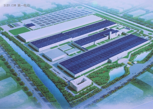 铠龙东方新能源汽车项目无锡工厂鸟瞰图
