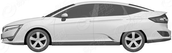 丰田clarity燃料电池汽车曝光图申报自带本田mirai福克斯叫板v燃料图片
