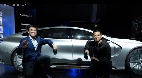 LeEco创始人兼董事长YT Jia与乐视超级汽车联合创始人、全球副董事长丁磊为LeSEE Pro揭幕