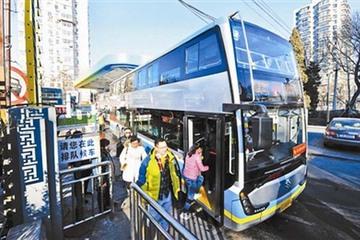 北京44路外环公交换成双层纯电动车