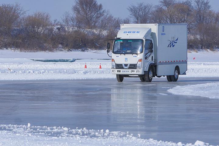 吉利商用车首征黑河 远程纯电动轻卡成功挑战高寒区测试