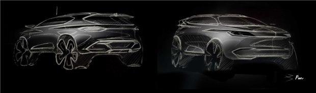 奇点全新车型设计图曝光 新车将于4月13日亮相