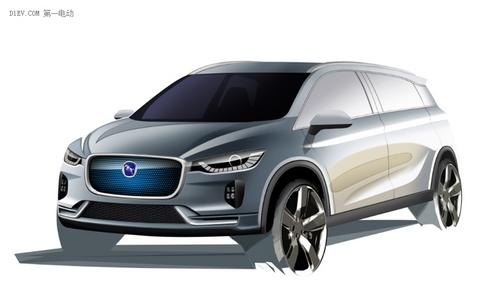 造型时尚 汉腾EV概念车设计图曝光并将亮相上海车展