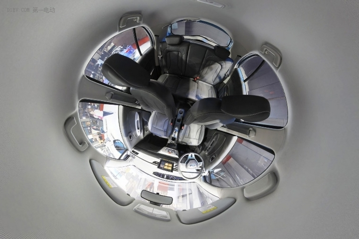 VR试   简洁 云度新能源π1全景内饰
