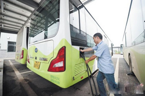 2020年湖南长沙市全部使用新能源公交车 其中半数为纯电动车