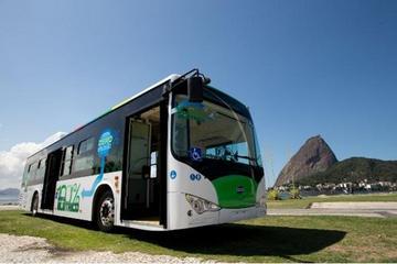 比亚迪纯电动大巴k9 里约热内卢试运行