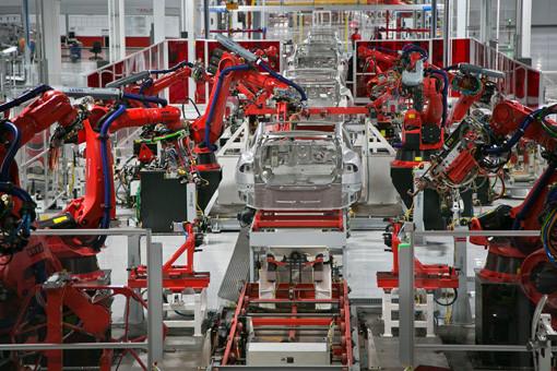 特斯拉的Model S生产线