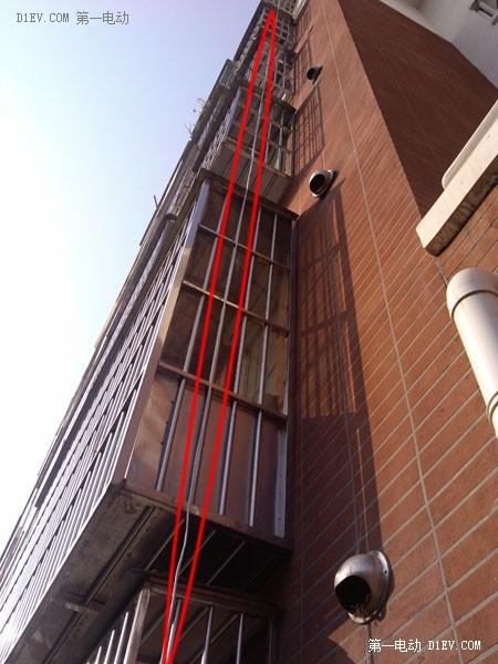 六楼飞线给电动汽车充电