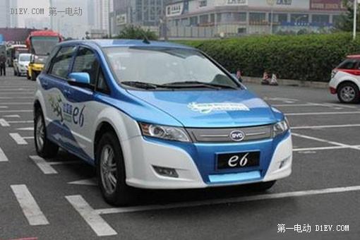 比亚迪e6电动出租车