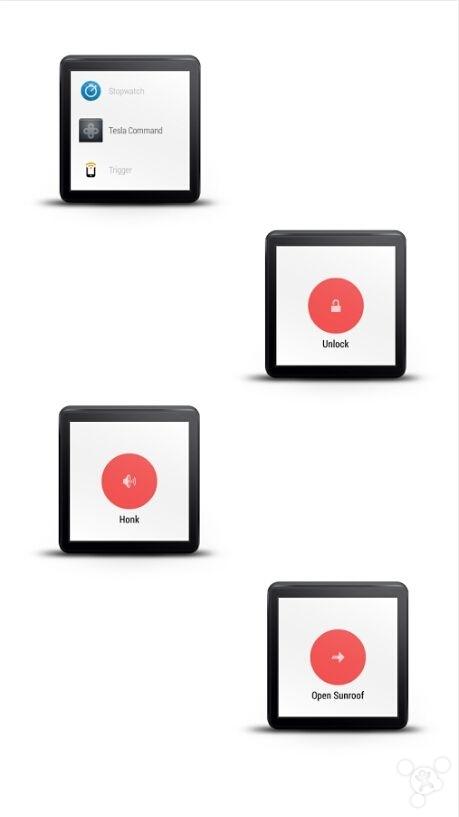 用手表控制特斯拉! 首个相关Android Wear应用诞生