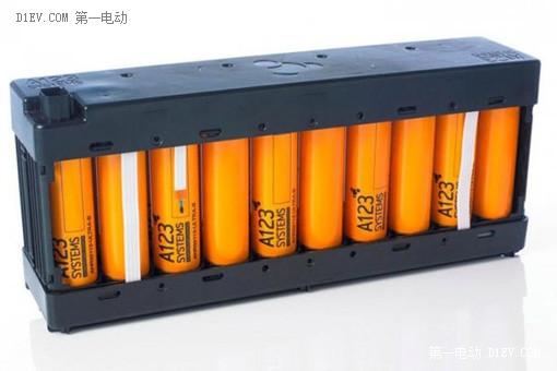 A123生产的电池模组