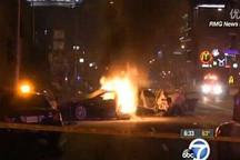 """特斯拉又""""火""""了 被盗Model S撞成两半电池爆炸"""