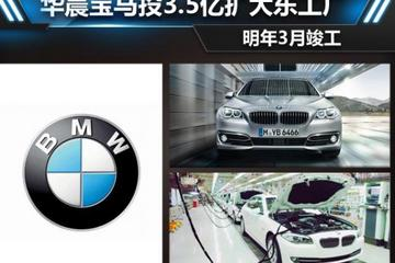 华晨宝马投3.5亿扩大东工厂 明年3月竣工
