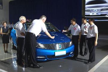 DENZA腾势量产车下线 新车9月底上海上市