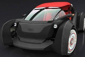 首台3D打印电动汽车Strati问世 售价11万元起
