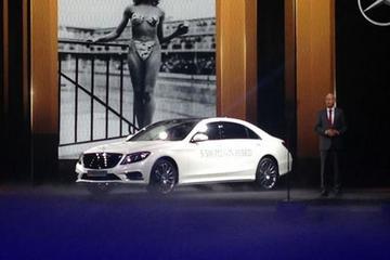 百公里油耗2.8L 奔驰S500混合动力车亮相巴黎车展