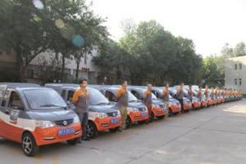 天津首批30余辆新能源物流车上路 不受通行尾号限制