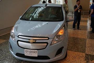 雪佛兰电动汽车SPARK EV成为安卓手机配件