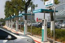 西安首批100个充电桩建成 目前免费为车充电