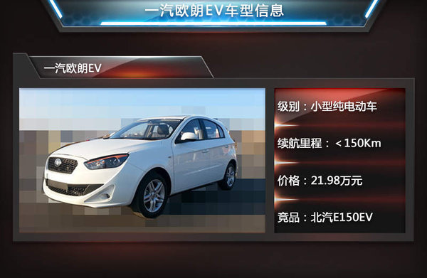 欧朗电动车/续航150公里 售价21.98万元