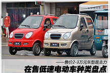 2-3万元是主力 在售低速电动车种类盘点