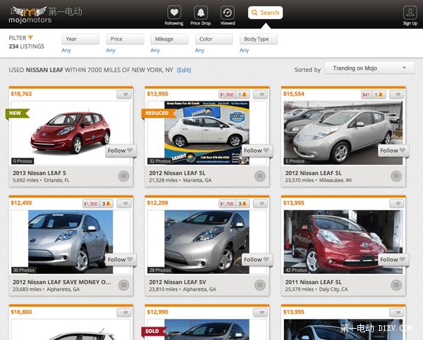 车型多价格低 美国二手电动汽车市场兴起