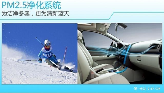 共创奥林匹克蓝 北汽奥运版纯电动汽车与你相约
