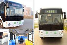 京兰纯电动客车亮相杭州引关注 可快速充电最多乘60人