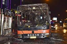 杭州闹市区厦门金旅混合动力公交车起火燃烧 9名乘客受伤(更新)