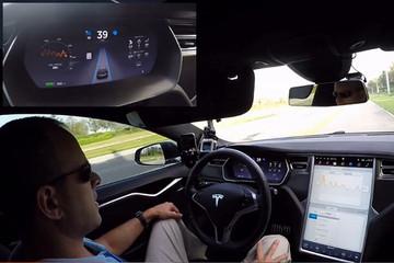 手心冒汗! 国外实测特斯拉7.0系统自动驾驶