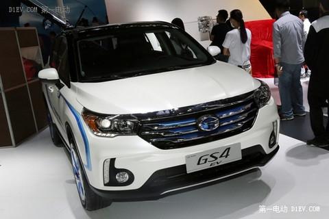 可续航240km 传祺GS4 EV广州车展亮相