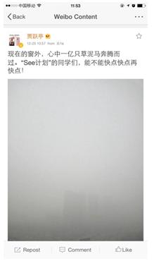 贾跃亭忧心雾霾督促SEE计划 中美汽车团队纷纷表态