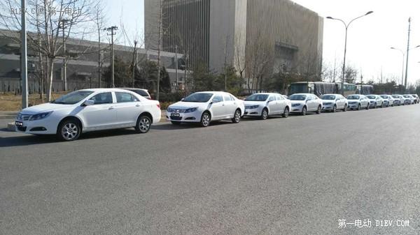 比亚迪e5新能源车进京 华鹏集团首批租赁订单交付