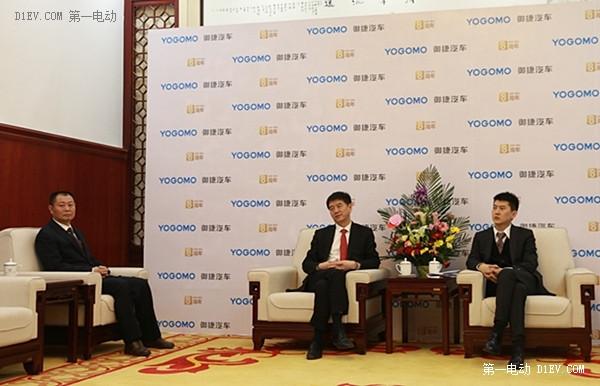 御捷董事长张立平(中)、御捷新任CEO张磊、御捷常务副总经理李小华