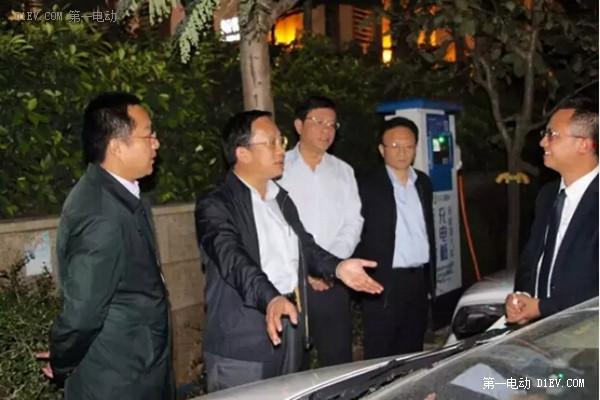 国务院新能源汽车推广应用督察组考察鼎充充电桩