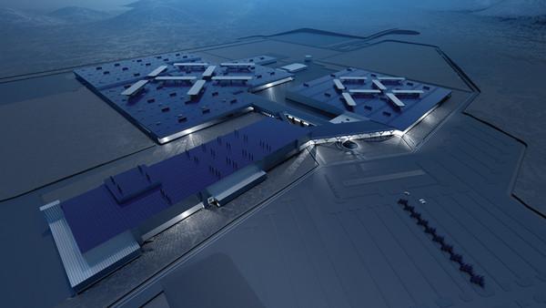 Faraday Future位于内华达州拉斯维加斯市的新厂蓝图