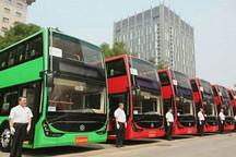 银隆钛酸锂双层纯电动大巴驶进北京