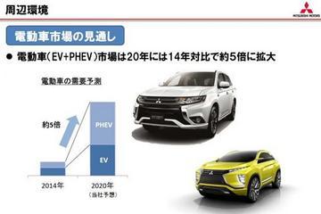 三菱最新战略 2017年-2020年将投放14款新能源汽车