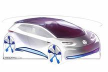 后门采用滑动开启 大众纯电动概念车将亮相巴黎