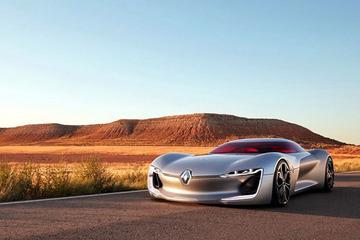 巴黎车展最科技的车 雷诺TREZOR概念车