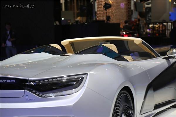 """""""技术蜻蜓""""敞篷版前途K50首次亮相北京车展 准量产版愈发成熟"""