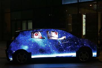 """纯电动车的创新玩法 晨风北京街头秀""""隐形"""" 技能"""