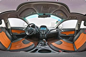 VR试 |  续航长配置高 比亚迪秦EV300全景内饰