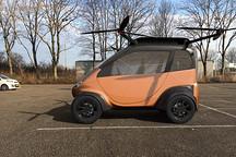 还是老外会玩,搞出了一台能飞的小型电动车