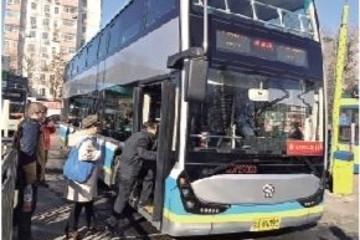 北京公交再添70部双层纯电动公交车