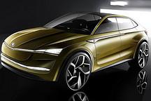 斯柯达Vision E纯电动SUV效果图曝光 剑指特斯拉Model X