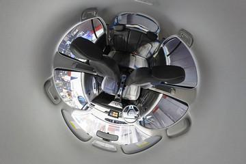 VR试 | 简约科技派纯电动SUV 云度新能源π1全景内饰