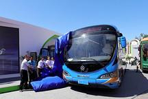 创新结合客车运营价值与广告价值,银隆新能源10.5M纯电动广告车亮相