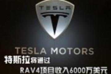 特斯拉将通过电动RAV4项目收入6000万美元